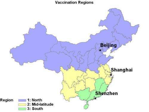 Researchers suggest China consider national flu vaccination plan with staggered timing