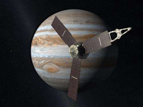 NASA spacecraft zips by Earth en route to Jupiter