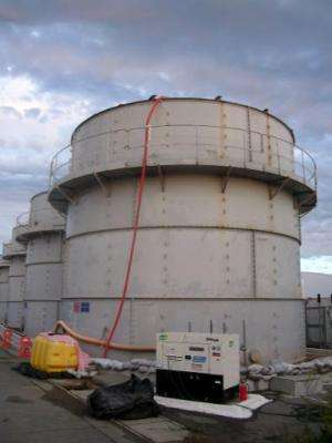 Image provided by TEPCO on October 3, 2013 shows a contamination water tank at the Fukushima nuclear plant