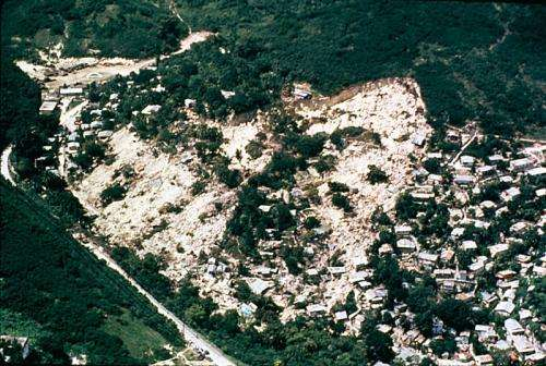 Researchers develop a way to remotely detect landslides