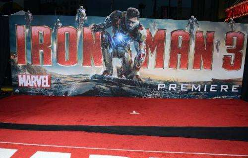 """A general view of the premiere of Walt Disney Pictures' """"Iron Man 3"""" at the El Capitan Theatre on April 24, 2013 in Ho"""