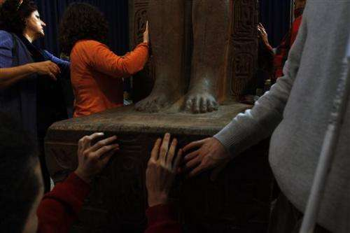US museum tells blind visitors: Please touch!