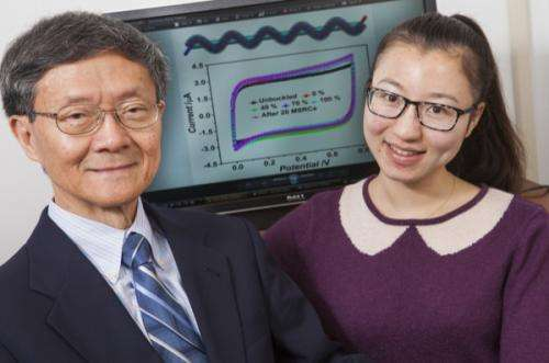 Researchers develop stretchable wire-shaped supercapacitor