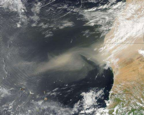African dust storms in our air