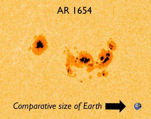 AR1654: A monster sunspot aiming our way