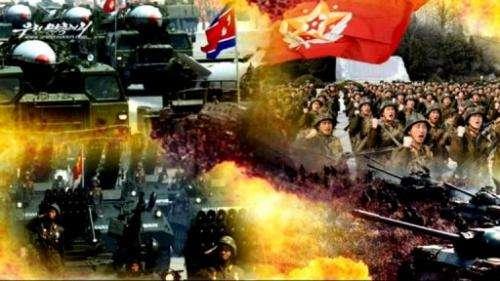 "A scene from a four-minute video titled ""A Short, Three-Day War""on North Korea's official website, Uriminzokkiri.com"