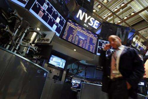 A trader works on the floor of the New York Stock Exchange on September 5, 2013