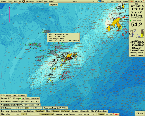 Automatic location of fishing gear