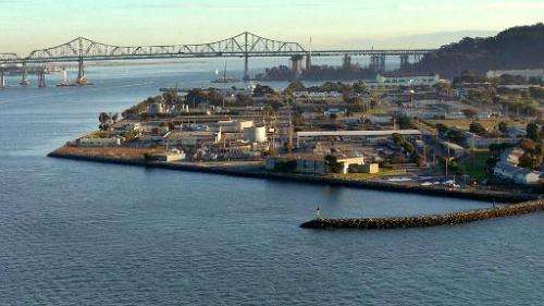 A view of Treasure Island on November 12, 2007 in San Francisco Bay, California