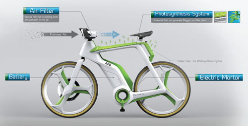 Bangkok designers draw attention for air-purifying bike idea