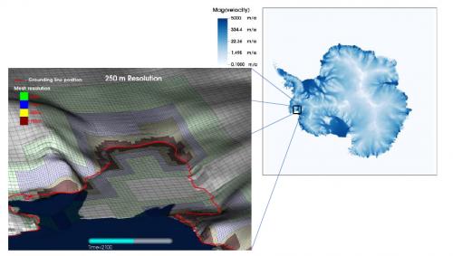 Berkeley code captures retreating Antarctic ice