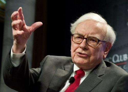 Billionaire Warren Buffett is pictured June 5, 2012