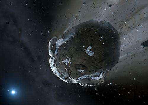 Watery asteroid discovered in dying star points to habitable exoplanets
