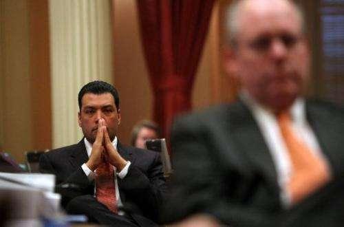 California State Senator Alex Padilla attends a session of the Senate on February 18, 2009 in Sacramento, California