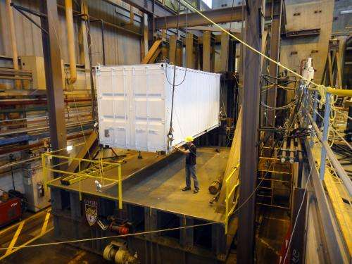 Cargo container research to improve buildings' ability to withstand tsunamis