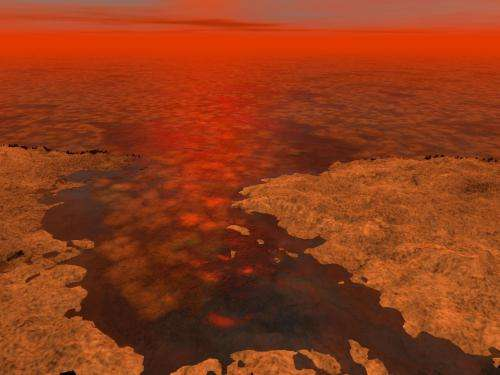 Cassini suggests icing on a lake