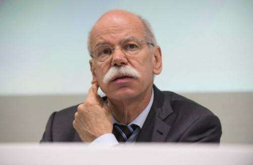 CEO of German auto giant Daimler AG, Dieter Zetsche, gives a press conference at Sindelfingen, Germany, June 12, 2013