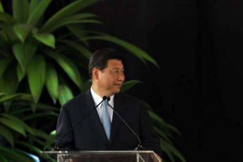 Chinese President Xi Jinping  is pictured in San Jose, on June 3, 2013