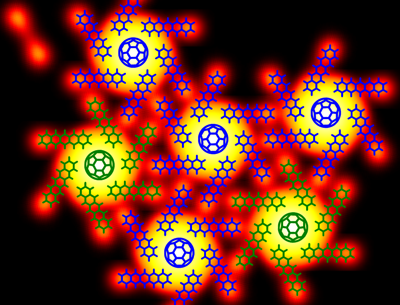 Chiral 'Pinwheels' self-assembled from C60 and pentacene