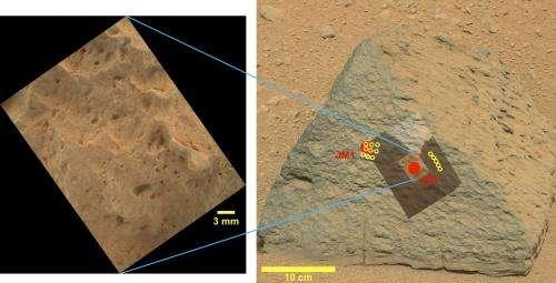 Unusual Mars rock described