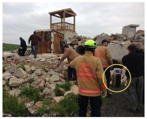 Detecting heartbeats in rubble