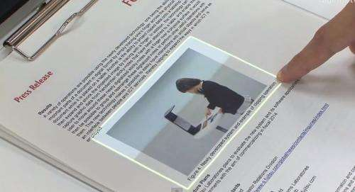 Fujitsu unveils device that lets printed paper become interactive (w/ video)