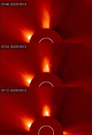 Earth-directed CME released by long duration solar flare