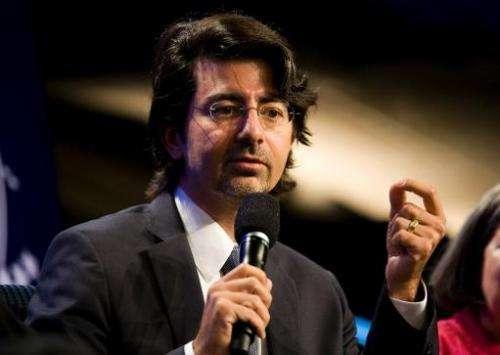 eBay founder Pierre Omidyar speaks on September 23, 2010 in New York City