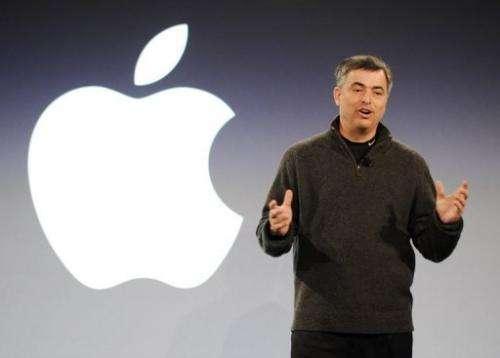 Eddy Cue, an Apple senior vice president, speaks on February 2, 2011, at the Guggenheim Museum in New York