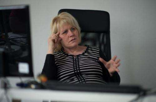 """Elke Seng, a """"job coach"""" who assists autistic employees, at Auticon in Berlin on May 30, 2013"""