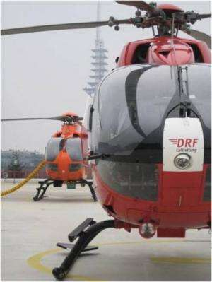 Emergency helicopter airlifts help the seriously injured