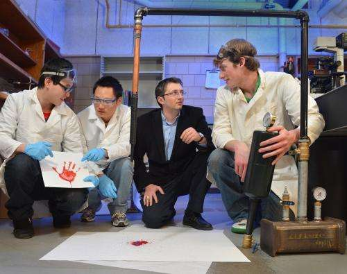 Engineer working to put more science behind bloodstain pattern analysis