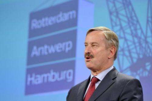 EU Transport Commissioner Siim Kallas gives a press conference on May 23, 2013 at the EU Headquarters in Brussels