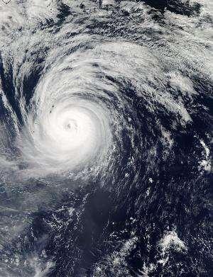 Extra-Tropical Storm Lekima weakens in Northern Pacific