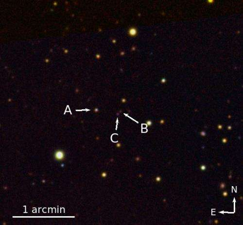 Extremely rare triple quasar found