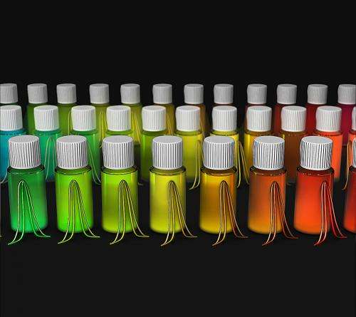 Fine-tuning emissions from quantum dots