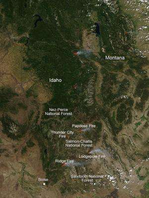 Fires in Idaho