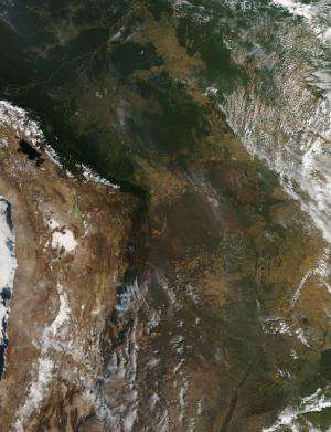 Fires in Mozambique and Madagascar Sept. 12, 2013