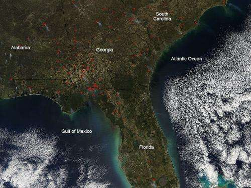 Fires in Southeastern United States