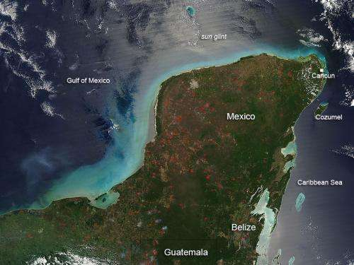 Fires in the Yucatan Peninsula