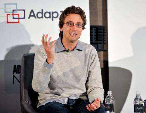 Founder and CEO of Buzzfeed, a social news website, Jonah Perretti on May 1, 2012 in New York