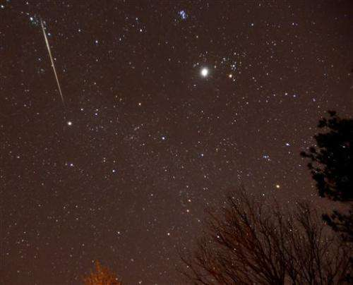 Geminid meteor shower ramps up Friday night