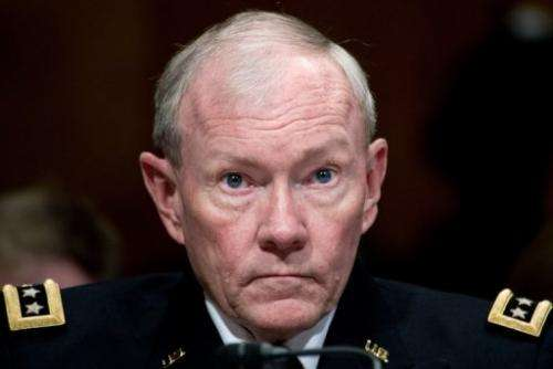 Gen. Martin Dempsey testifies on June 12, 2013 on Capitol Hill in Washington