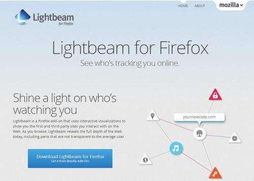 Lightbeam from Mozilla shines light on online tracking