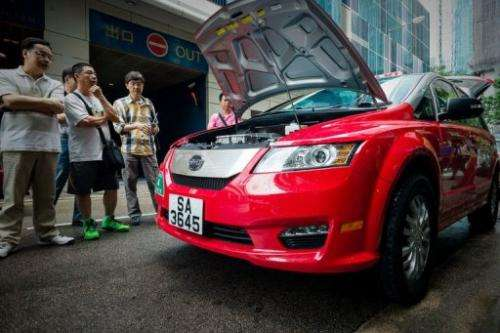 Hong Kong saw its first electric taxis hit the streets on May 18, 2013