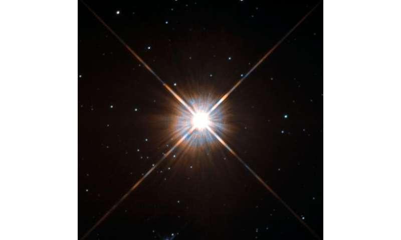 Hubble's new shot of Proxima Centauri, our nearest neighbor
