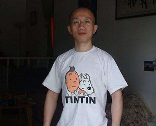 Image provided by Zeng Jinyan shows her husband, Chinese dissident Hu Jia, at their home in Beijing on June 27, 2011