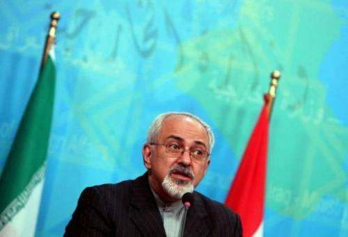 Iranian Foreign Minister Mohammad Javed Zarif speaks at a press conference in Baghdad on September 8, 2013