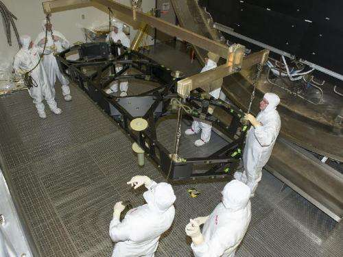 James Webb Space Telescope wings arrive for testing at Marshall