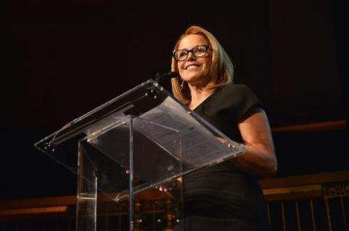 Journalist Katie Couric speaks at a gala in New York on October 23, 2013